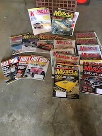 50 PLUS MUSCLE CAR , HOT ROD ,MOTOR TREND MAGAZINES