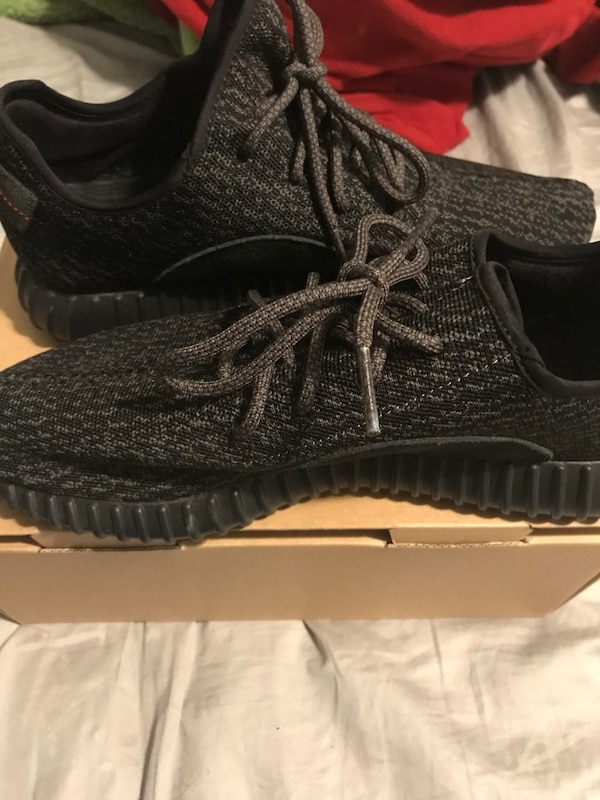 816bcfca03a8d Used Yeezy 2016 pirate black worn twice og box and receipt size 14 ...