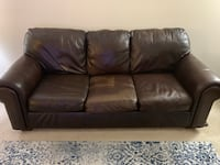 Leather Couch, Chair with Ottoman Herndon, 20170