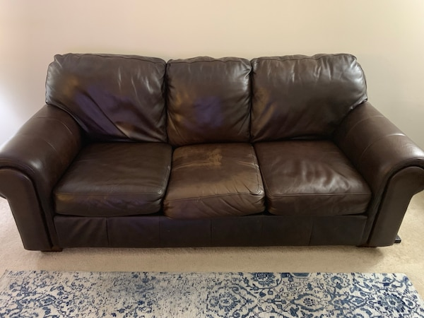 Leather Couch, Chair with Ottoman c2aa2bcd-f83b-4725-b7c6-30d418f3f134