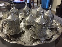 Silver Turkish coffee set  Vancouver, V5T 2A3