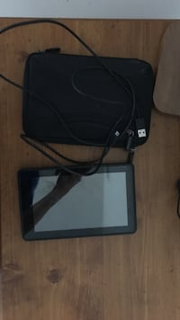 black android tablet computer with case