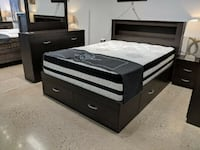 BRAND NEW CANADIAN MADE QUEEN BED WITH STORAGE COLORS AVAILABLE Waterloo