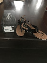 Black Italian Sandals used once Milton, L9T 5R9