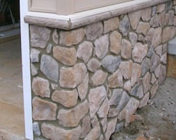 Grouting Rock Wall