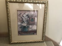 Gold framed decorative picture