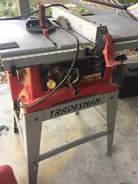 Red And Gray Tradesman Bench Table Saw In Orlando Letgo