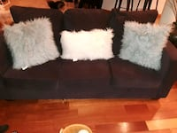 brown and white suede couch Gaithersburg, 20877