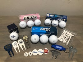 Golf Balls, & Assort Golf Stuff