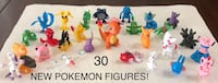 30 New Pokemon Small Toy Figures (Charmander, Pikachu, Mega Mew two Y & much more!) $15 ALL FIRM Visalia, 93292