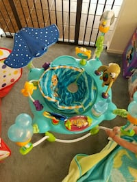 baby's blue and green jumperoo Modesto, 95356