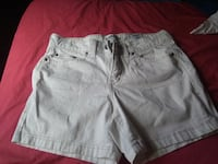 two gray and blue denim shorts Trion