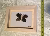 square beige wooden framed with butterfly stone art Chilliwack, V2P 2N4