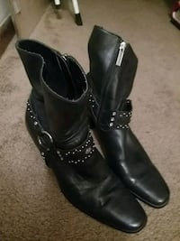 Woman's size 9 black leather Harley Davidson boots Corbin, 40701