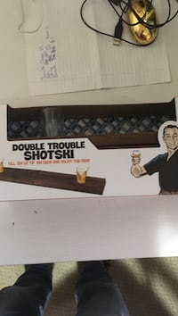 brown wooden double trouble shotski cardboard box St Catharines, L2T 2W7