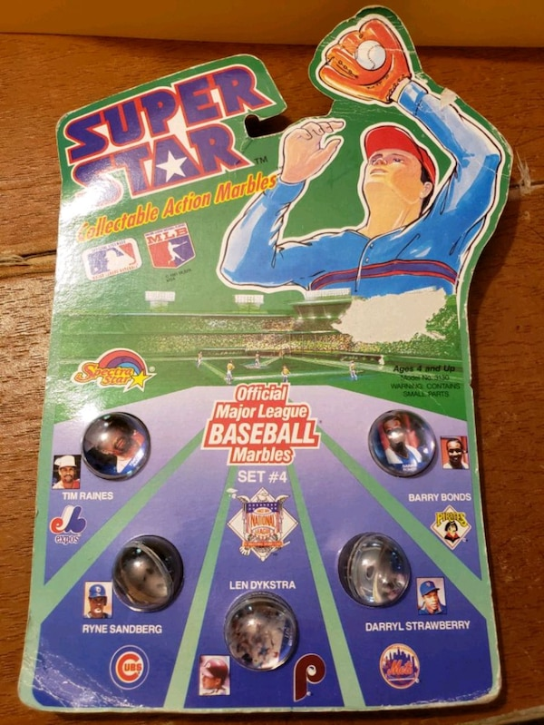 1990 MLB Super Star collectable marbles