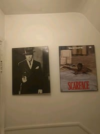 1900's mobster movie and Scarface movie walk art Edmonton, T5N 2Z9