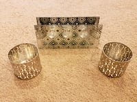 Silver and mirrored candle holders Woodbridge, 22192