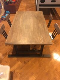 Kids metal and wood activity table Manalapan, 07726