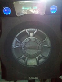 black and gray Kicker subwoofer London