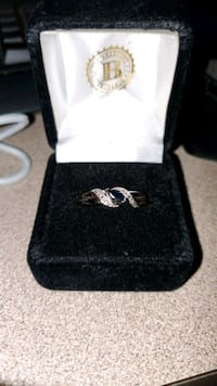 Two colored silver ring in box Rockville, 20855
