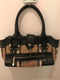 BURBERRY GENUINE  HANDBAG WITH LEATHER & LOCK