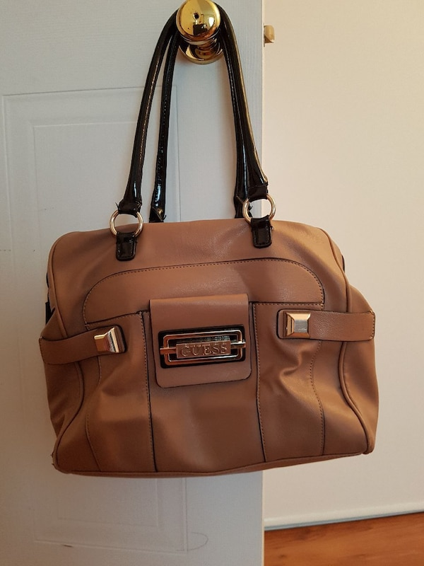 843e80e054cf Used brown and black Guess tote bag for sale in Gatineau - letgo