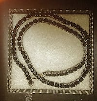 Black Diamond Tennis Necklace / Chain .. NEW Wetumpka, 36092