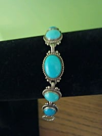 """Carolyn Pollack turquoise and Sterling silver bracelet 6"""""""