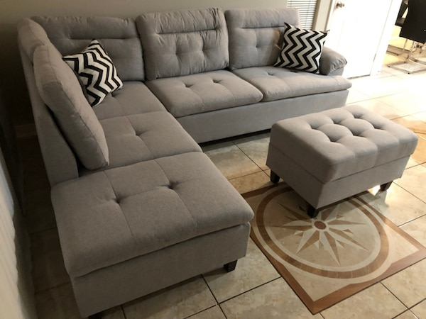 New!!! 3pc Grey Sectional Sofa • $49 Down Payment • No Crédito Check 917ee988-663e-4c29-88aa-8ef90a9df625