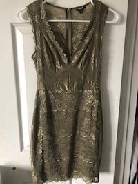 Guess - Green Lace Dress XS