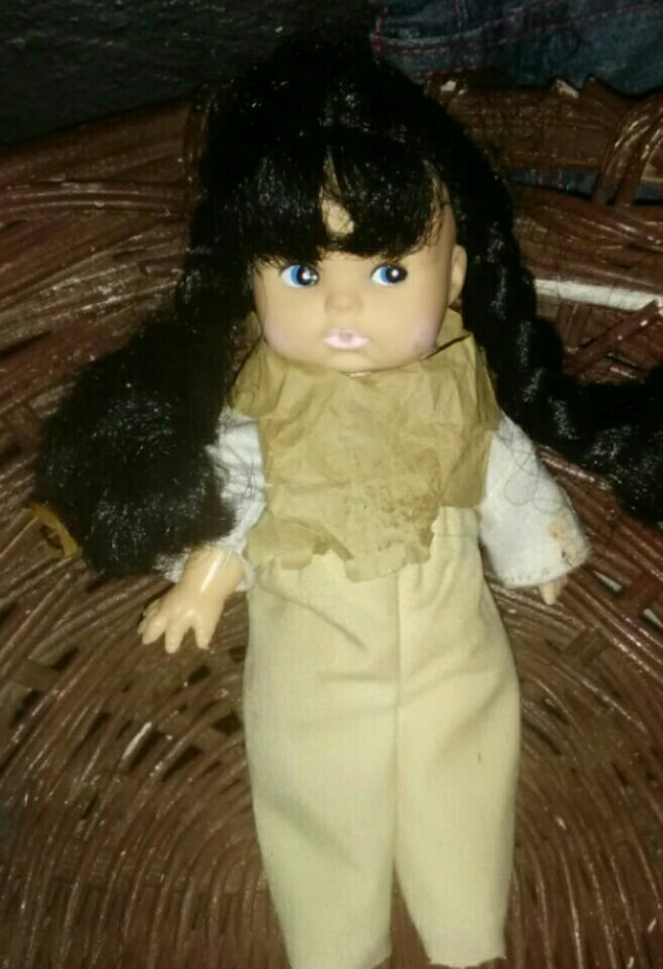 black haired baby doll