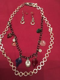 Beautiful silver necklace and earrings. Melbourne, 32940