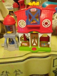 red and white Fisher-Price barnhouse toy Decatur, 62526