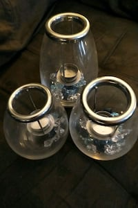 Need gone - glass tea light holder