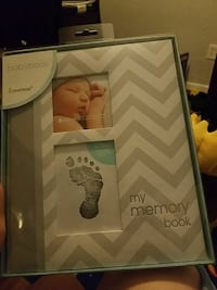 white and gray BabyBook My Memory Book