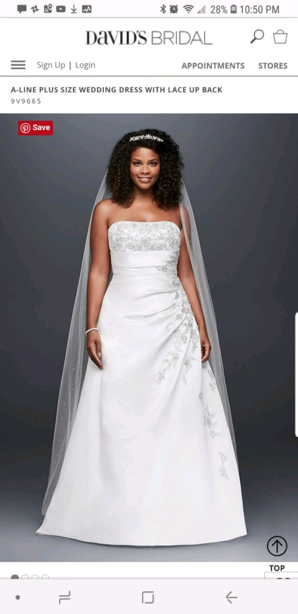Used Wedding Gown With Veil For Sale In Corinth Letgo