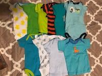 10 Baby boy onesies and shirt set | rarely used | Good condition | Size: 3 to 6 months  Silver Spring, 20906