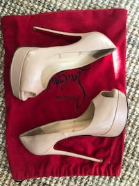 Christian LOUBOUTIN Lady Peep heels in Nude San Francisco, 94116
