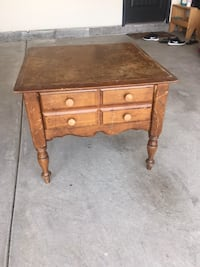 brown wooden single-drawer end table Oklahoma City, 73170