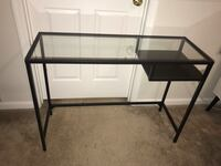 Black glass top desk perfect condition  Atlanta, 30341