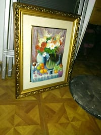painting of flowers and vase with brown wooden fra Philadelphia, 19133