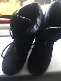 Laced Boots Real Leather Size 7 405 mi