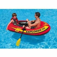 Inflatable boat with oars & hand pump