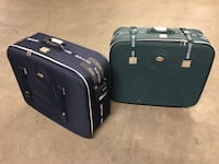 2 XL check in size international travel suitcases take both  Charlotte, 28202