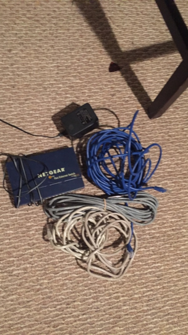 Ethernet cords and box