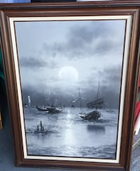 Oil painting with nautical theme