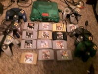 green Nintendo 64 games and controllers Calgary, T2A 1S4