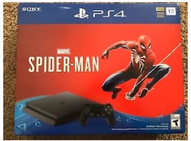 PS4 slim 1tb (with spider-man game)