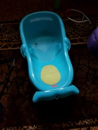 baby's blue plastic bather